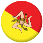 Sicily Flag 58mm Button Badge